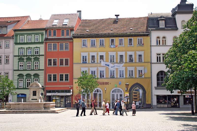 Der historische Marktplatz von Jena